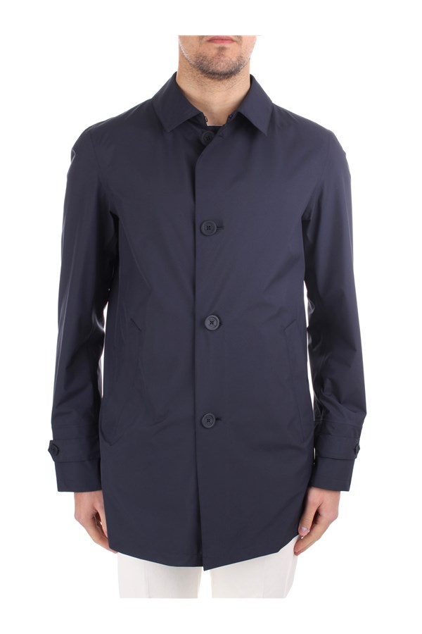 Herno raincoats Blue
