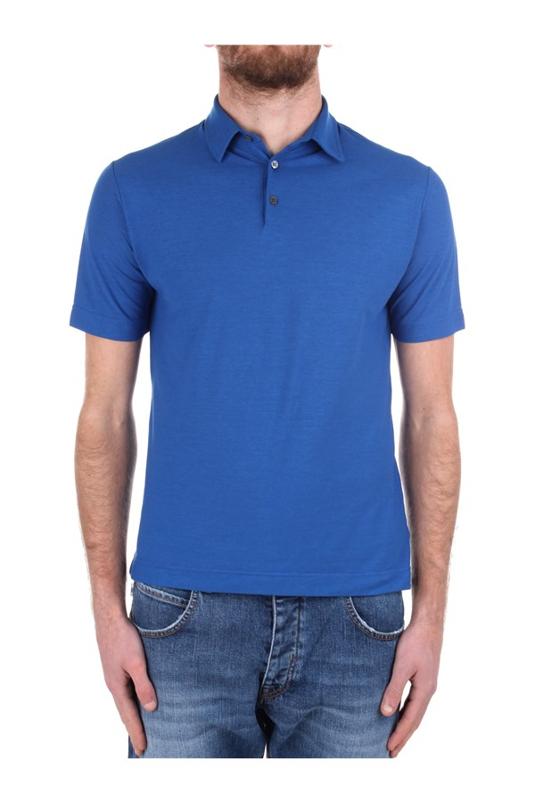 Zanone Short sleeves Blue