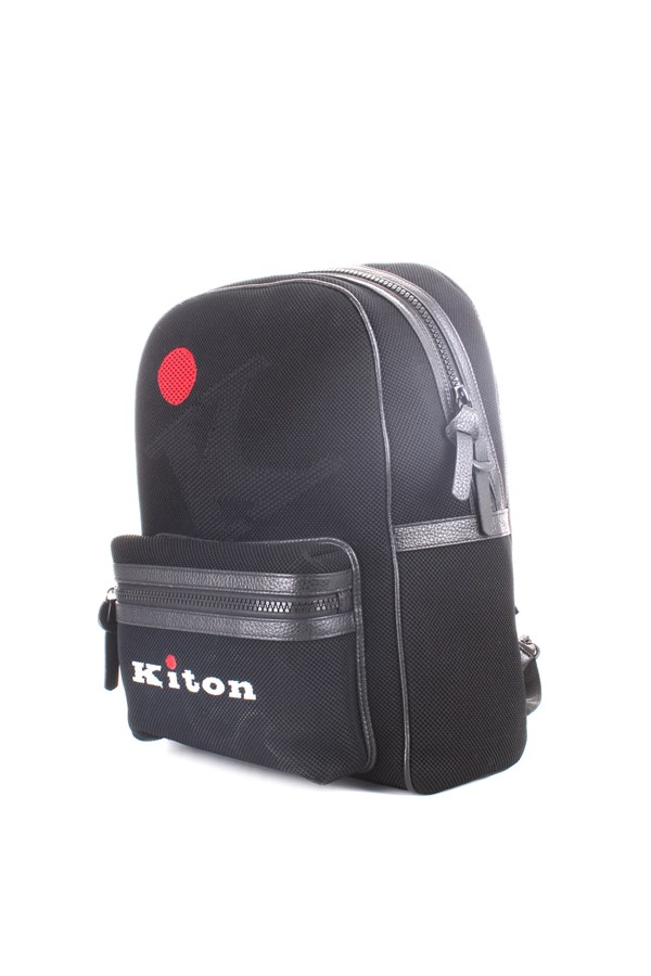 Kiton Backpacks Black