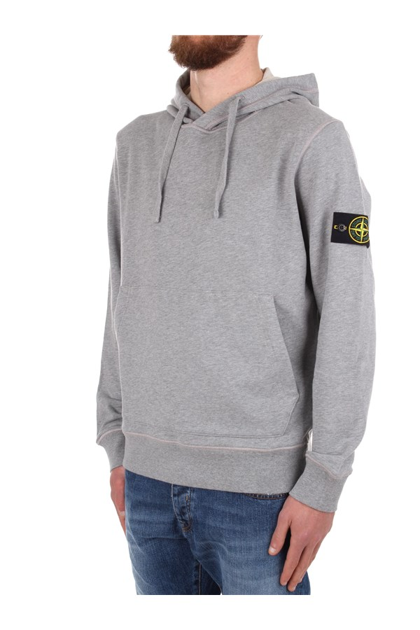 Stone Island Hoodies Grey