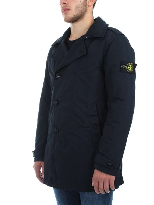 Stone Island Clothing Man Jackets And Jackets Blue 691545249 V0020