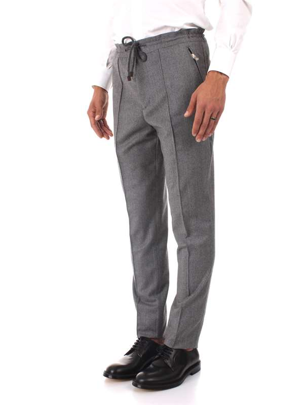 Brunello Cucinelli Clothing Man Trousers Grey ML486E1880 C024