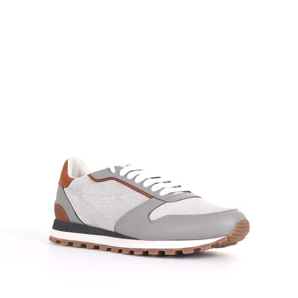 Brunello Cucinelli Shoes Man Sneakers Grey MZUFCPA227 CQ048