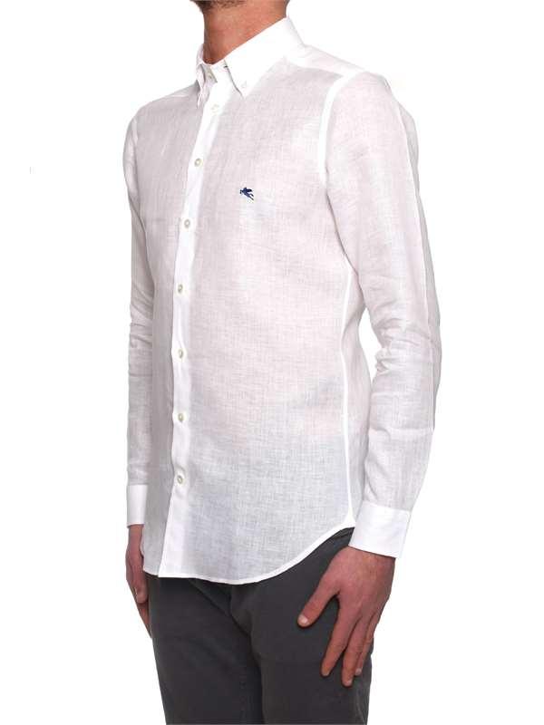 aacd4133354e Camicie Etro Uomo - Bianco - Vendita Camicie On line su michidamato.com