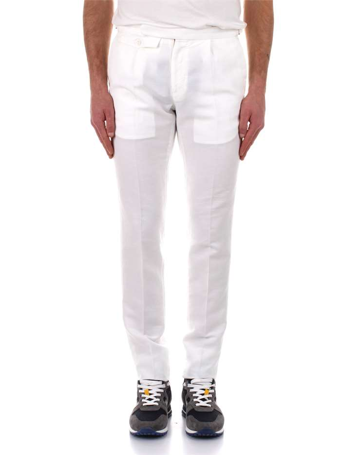 Trousers Incotex Man White Buy Trousers On Line On Michidamato Com