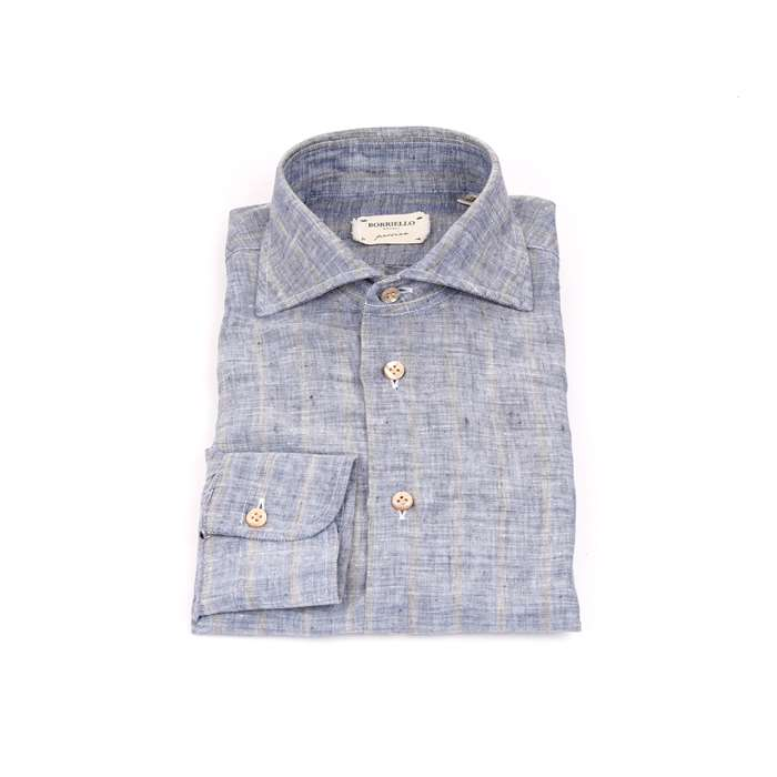 Borriello Clothing Man Shirts Blue 8174 4
