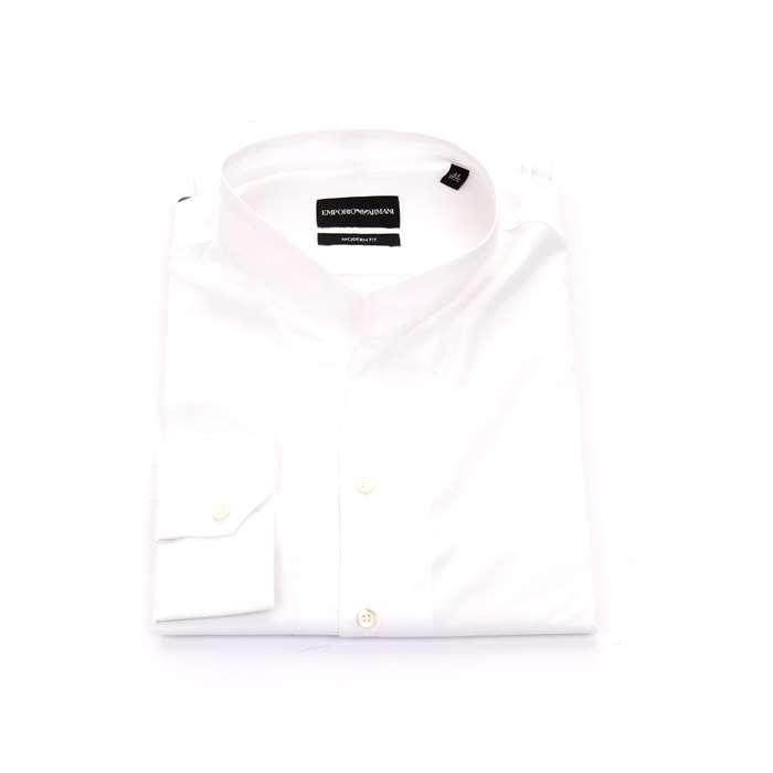 watch e504b 97f63 Emporio Armani Camicie Uomo Bianco | Michi d'Amato