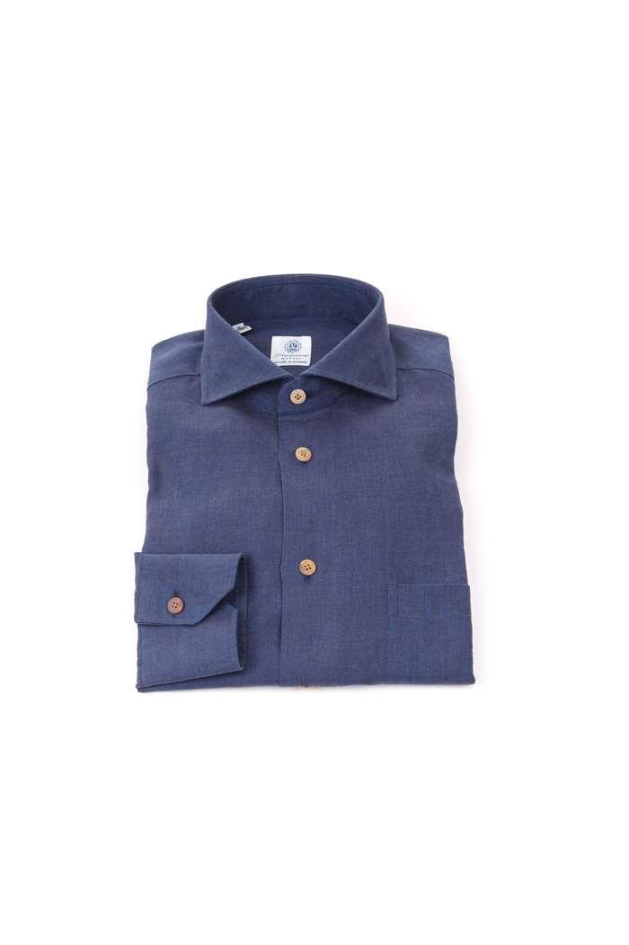 online store d1516 78d49 Vanacore Camicie Uomo Blu   Michi d'Amato