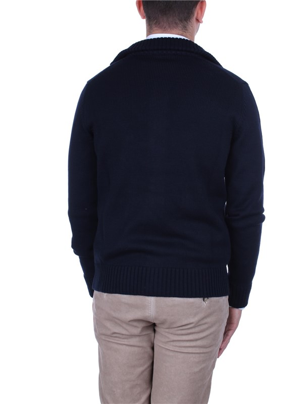 Zanone Clothing Man Sweaters Blue 812218 Z0229