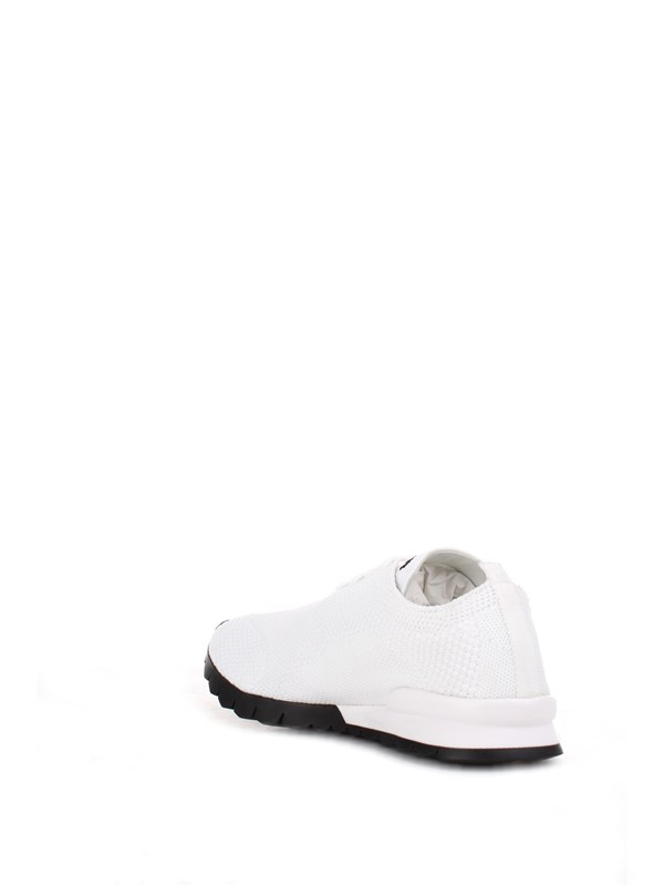 Kiton Shoes Man Sneakers White USSFIT N00609/1
